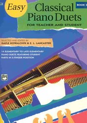 ALFRED PUBLISHING CO.,INC. EASY CLASSICAL PIANO DUETS 3  -  Teacher and Student