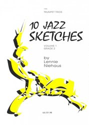 Kendor Music, Inc. 10 JAZZ SKETCHES 1 by Lennie Niehaus - trumpet trios