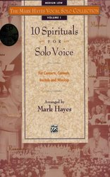 10 SPIRITUALS FOR SOLO VOICE + CD  medium low