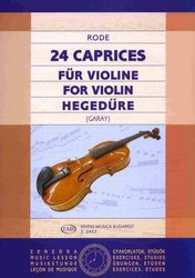 24 Caprices for Violin by J.P. Rode / housle