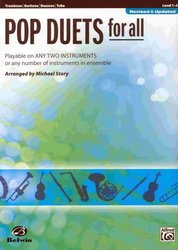 POP DUETS FOR ALL (Revised and Updated) level 1-4 // trombon/bassoon/tuba