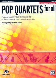POP QUARTETS FOR ALL (Revised and Updated) level 1-4 // trumpeta
