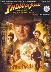 INDIANA JONES & THE KINGDOM OF THE CRYSTAL SKULL + CD / violoncello + klavír