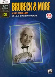 Alfred Jazz Play Along 3 -  Brubeck & More (9 jazz standards) + CD
