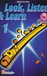 Hal Leonard MGB Distribution LOOK, LISTEN&LEARN 1 + CD method for flute