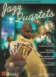 Hal Leonard MGB Distribution JAZZ QUARTETS + CD   alto sax quartets