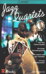 Hal Leonard MGB Distribution JAZZ QUARTETS + CD   clarinet quartets