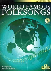 WORLD FAMOUS FOLKSONGS + CD / akordeon