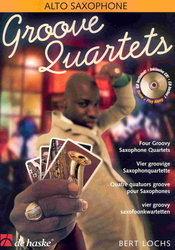 GROOVE QUARTET + CD           alto sax quartets
