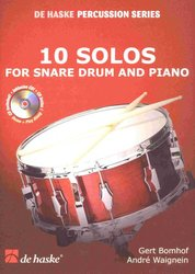 10 SOLOS FOR SNARE DRUM & PIANO + CD / malý buban + klavír
