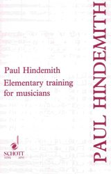 SCHOTT&Co. LTD Elementary Training for Musicians by Paul Hindemith