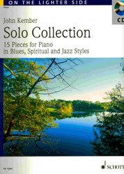 SOLO COLLECTION in Blues, Jazz & Spiritual Styles + CD    piano