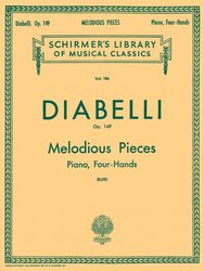 DIABELLI: MELODIOUS PIECES on Five Notes, Op.149 / 1 klavír 4 ruce