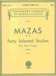 MAZAS - 40 Selected Studies, Op. 36 for the violin - book 1 / housle