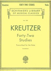 FORTY-TWO STUDIES by KREUTZER - viola