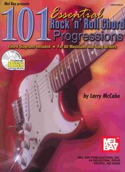 MEL BAY PUBLICATIONS 101 Essential Rock'n' Roll Chord Progressions + CD kytara
