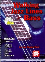 Walking Jazz Lines for Bass + CD