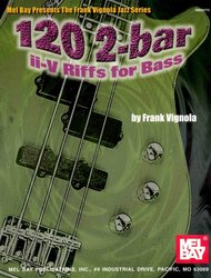 120 2-bar II-V Riffs for Bass / basová kytara + tabulatura