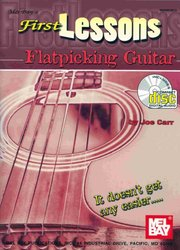 MEL BAY PUBLICATIONS FIRST LESSONS - FLATPICKING GUITAR + CD / kytara + tabulatura