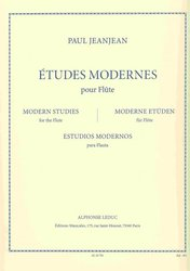 ETUDES MODERNES by Paul JEANJEAN  for flute