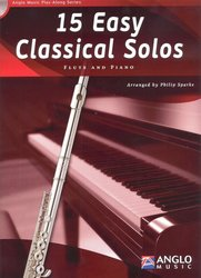 Anglo Music Press 15 Easy Classical Solos + CD / příčná flétna + klavír