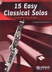 Anglo Music Press 15 Easy Classical Solos + CD / klarinet + klavír