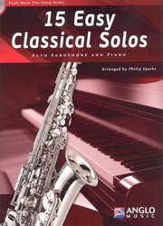 Anglo Music Press 15 Easy Classical Solos + CD / altový saxofon + klavír