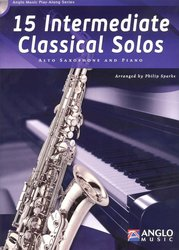 Anglo Music Press 15 Intermediate Classical Solos + CD / altový saxofon + klavír