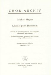 Laudate pueri Dominum by Michael Haydn for SSA + strings & basso continuo / partitura