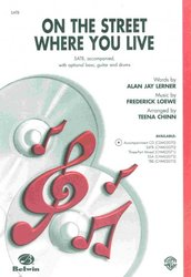 On the Street Where You Live (from musical My Fair Lady)  / SATB*