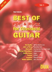 Best of Pop & Rock for Classical Guitar 3 / kytara + tabulatura