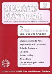 MUSETTE FESTIVAL 3 for Accordion - solo, duo or ensemble