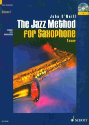 The Jazz Method for Tenor Sax by John O'Neill + CD / tenorový saxofon