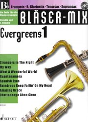 BLASER-MIX: Evergreens 1 + CD - Bb instruments (solos or duets)