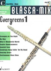BLASER-MIX: Evergreens 1 + CD - C instruments (solos or duets)