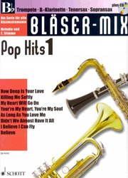 BLASER-MIX: POP HITS 1 + CD - Bb instruments (solos or duets)