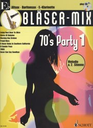 BLASER-MIX: 70's Party 1 + CD / Eb Instrument solos (duets)