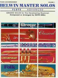 Warner Bros. Publications BELWIN MASTER SOLOS ADVANCED  FLUTE / piano