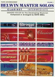Warner Bros. Publications BELWIN MASTER SOLOS INTERMEDIATE  CLARINET/ piano