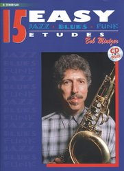15 Easy Jazz Blues Funk Etudes + CD / tenorový saxofon