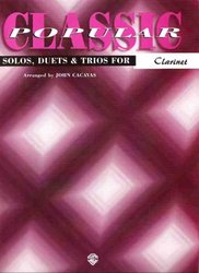 Warner Bros. Publications CLASSIC POP SOLOS  for CLARINET (solos / duets / trios)