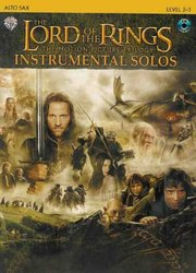 Warner Bros. Publications LORD OF THE RINGS - INSTRUMENTAL SOLOS + CD alt saxofon