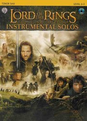 Warner Bros. Publications LORD OF THE RINGS - INSTRUMENTAL SOLOS + CD  tenor saxofon