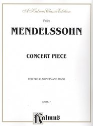 Mendelssohn: Concert Piece for Two Clarinets & Piano / Koncert pro dva klarinety a klavír