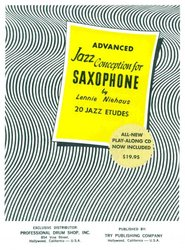 TRY PUBLISHING COMPANY Jazz Conception for Saxophone by Lennie Niehaus 4 (yellow) + CD for