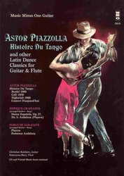 ASTOR PIAZZOLA - Histoire Du Tango and Others Latin Dance Classics for flute & guitar + CD