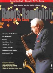 Music Minus One STOMPIN' AT THE SAVOY + CD for Bb/Eb Instruments