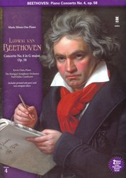 Music Minus One BEETHOVEN: Piano Concerto No.4 in G Major, op.58 + 2x CD