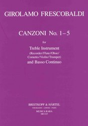CANZONI 1-5 by Girolamo Frescobaldi for Recorder (flétna / hoboj / housle) & Basso Continuo