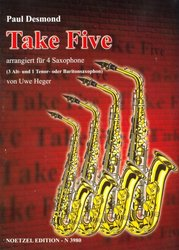 TAKE FIVE by Paul Desmond / SAX QUARTETT (AAAT/AAAB)